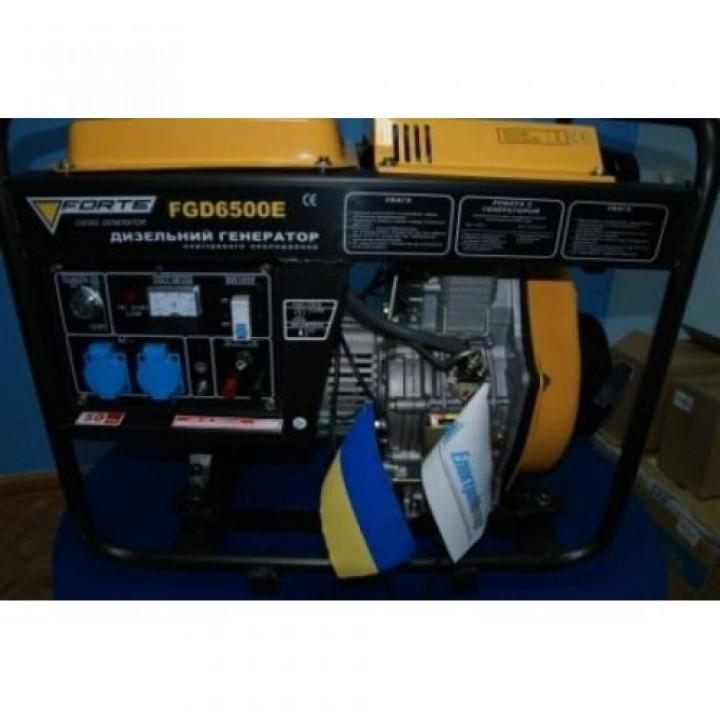 Бензиновый генератор Форте FG 6500E с электро стартером, Генераторы Forte