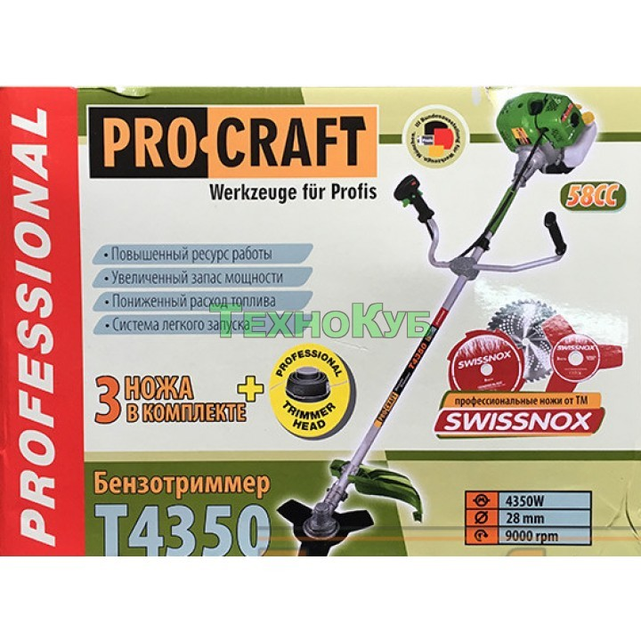 Бензокоса Procraft T-4350 Pro