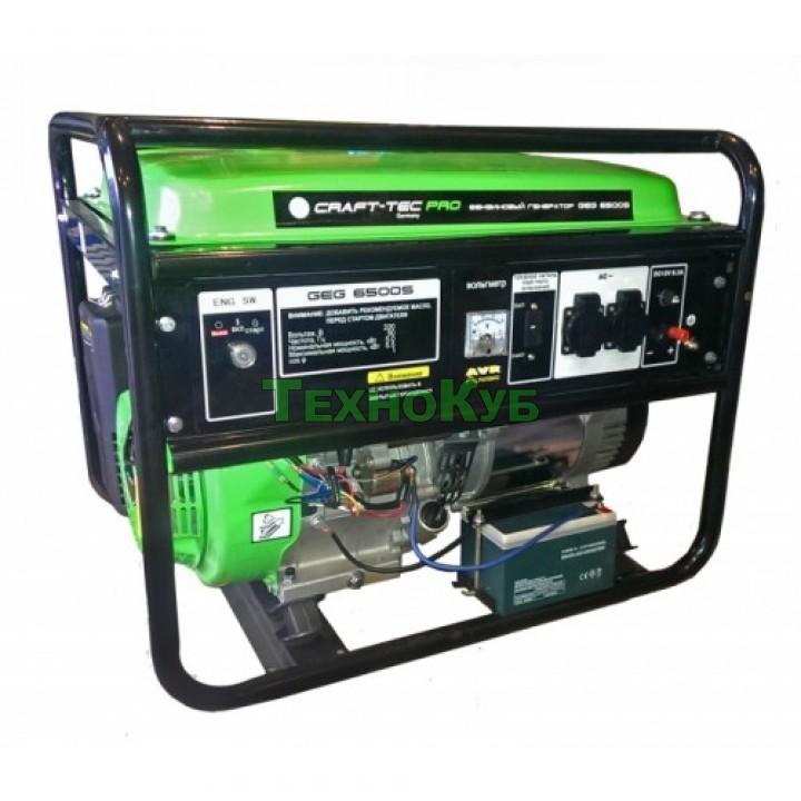 Бензиновый генератор Craft-tec GeG 6500S с электростартером, Генераторы Craft-tec